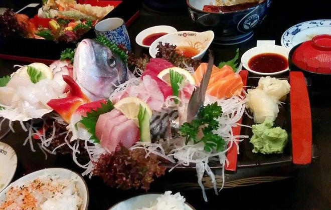 selection of sashimi